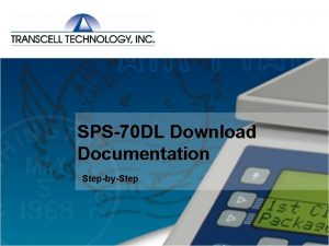 SPS70 DL Download Documentation StepbyStep SPS70 DL Download