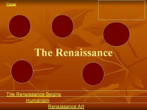 Cover The Renaissance Begins Humanism Renaissance Art Cover