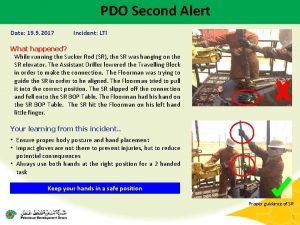 PDO Second Alert Date 19 9 2017 Incident
