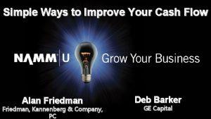 Simple Ways to Improve Your Cash Flow Alan