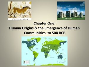 Chapter One Human Origins the Emergence of Human