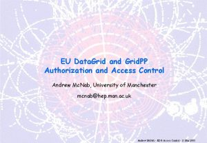 EU Data Grid and Grid PP Authorization and