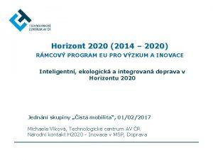 Horizont 2020 2014 2020 RMCOV PROGRAM EU PRO