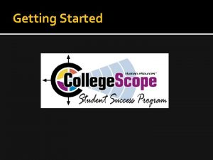 Getting Started Resources www collegesuccess com Click on