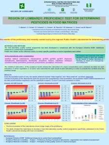 REGION OF LOMBARDY PROFICIENCY TEST FOR DETERMINING PESTICIDES