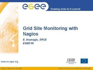 Enabling Grids for Escienc E Grid Site Monitoring