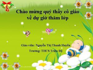 Cho mng qu thy c gio v d