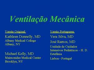 Ventilao Mecnica Verso Original Verso Portuguesa Kathleen Donnelly
