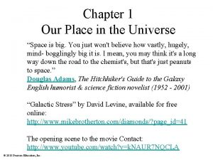 Chapter 1 Our Place in the Universe Space