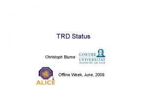 TRD Status Christoph Blume Offline Week June 2009