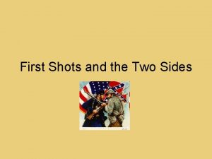 First Shots and the Two Sides Fort Sumter