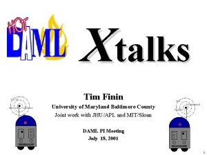 Xtalks Tim Finin askall subscribe advertise University of