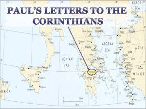PAULS LETTERS TO THE CORINTHIANS st 1 CORINTHIANS