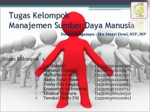 Tugas Kelompok Manajemen Sumber Daya Manusia Dosen Pengampu
