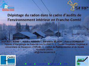 Dpistage du radon dans le cadre daudits de