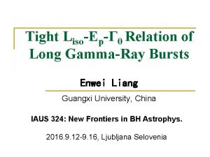 Tight LisoEp 0 Relation of Long GammaRay Bursts