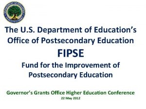 The U S Department of Educations Office of