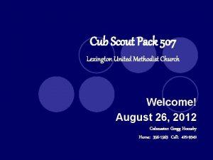 Cub Scout Pack 507 Lexington United Methodist Church