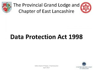 The Provincial Grand Lodge and Chapter of East