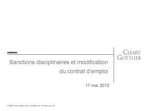 Sanctions disciplinaires et modification du contrat demploi 17