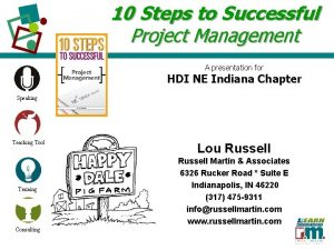10 Steps to Successful Project Management A presentation