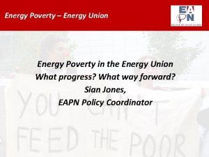 Energy Poverty Energy Union Energy Poverty in the