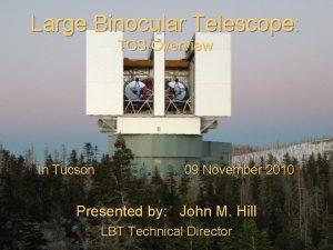 Large Binocular Telescope TCS Overview In Tucson 09