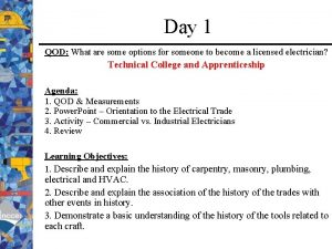 Day 1 QOD What are some options for