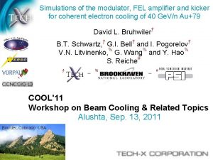 Simulations of the modulator FEL amplifier and kicker