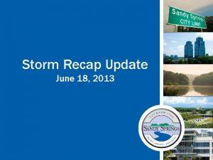 Storm Recap Update June 18 2013 Timeline Storm