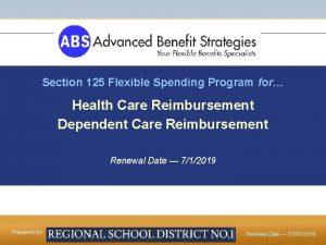 Section 125 Flexible Spending Program for Health Care