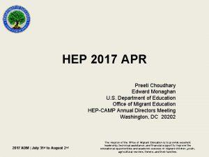 HEP 2017 APR Preeti Choudhary Edward Monaghan U