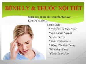 BNH L THUC NI TIT Ging vin hng