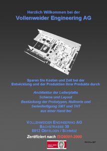 Herzlich Willkommen bei der Vollenweider Engineering AG Sparen