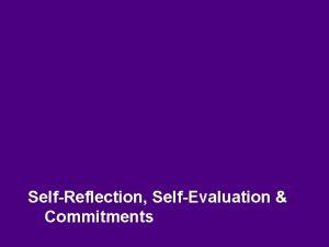 SelfReflection SelfEvaluation Commitments Information Teachers Orientation Program 8
