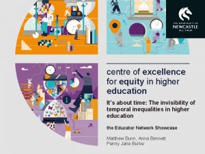 centre of excellence for equity in higher education