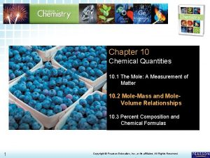 10 2 MoleMass and Mole Volume Relationships Chapter