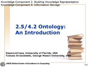 Knowledge Component 2 Building Knowledge Representation Knowledge Component