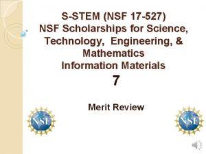 SSTEM NSF 17 527 NSF Scholarships for Science