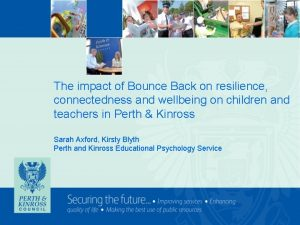 The impact of Bounce Back on resilience connectedness