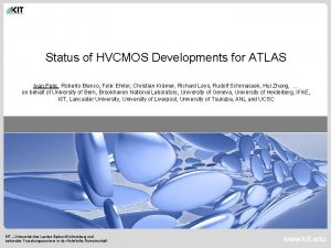 Status of HVCMOS Developments for ATLAS Ivan Peric
