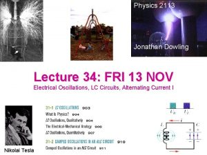 Physics 2113 Jonathan Dowling Lecture 34 FRI 13