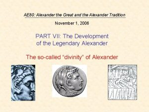 AE 80 Alexander the Great and the Alexander