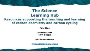 The Science Learning Hub Resources supporting the teaching