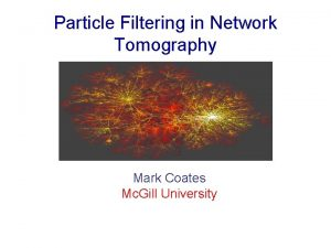 Particle Filtering in Network Tomography Mark Coates Mc