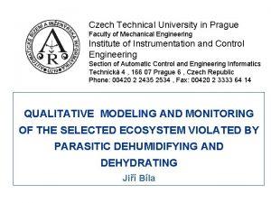 Czech Technical University in Prague Faculty of Mechanical