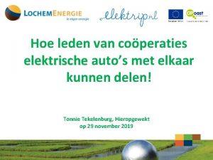 Hoe leden van coperaties elektrische autos met elkaar