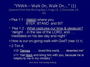 YNWA Walk On Walk On 1 Lessons from
