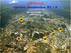 LEB Meeting Aperture Considerations IP 2 8 Bernhard