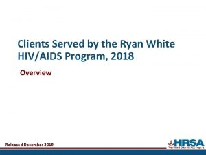 Clients Served by the Ryan White HIVAIDS Program